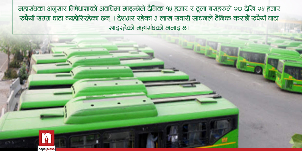 यातायात व्यवसायीको पीडाः निषेधाज्ञा लम्बिए गाडीको साँचो बैंकलाई बुझाउन बाध्य हुनेछौं