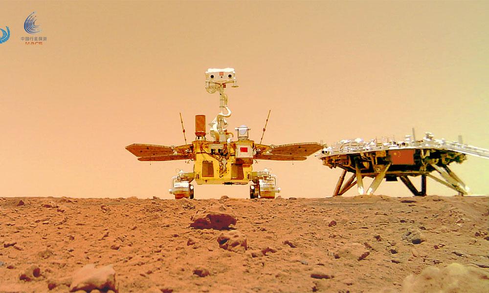 चिनियाँ रोभरले मंगल ग्रहमा सेल्फी खिच्यो (तस्विरहरु)