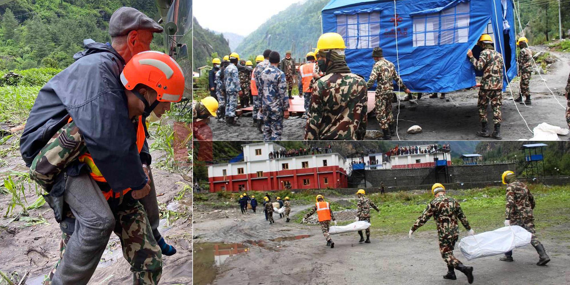 बाढीपीडितको उद्दारमा यसरी खटिएको छ नेपाली सेना (तस्बिरहरू)