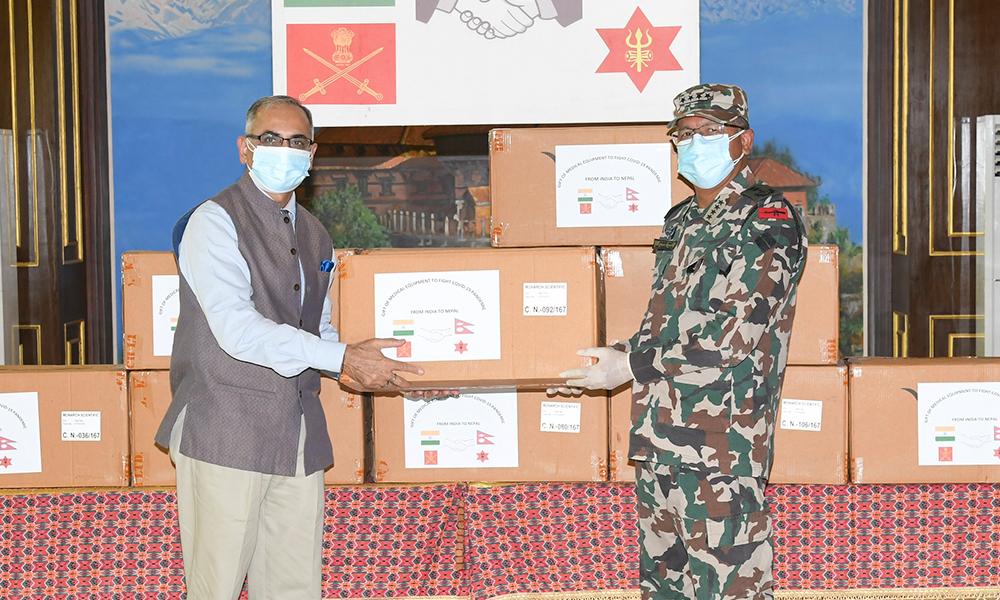 भारतीय सेनाद्वारा नेपाली सेनालाई स्वास्थ्य सहायता प्रदान