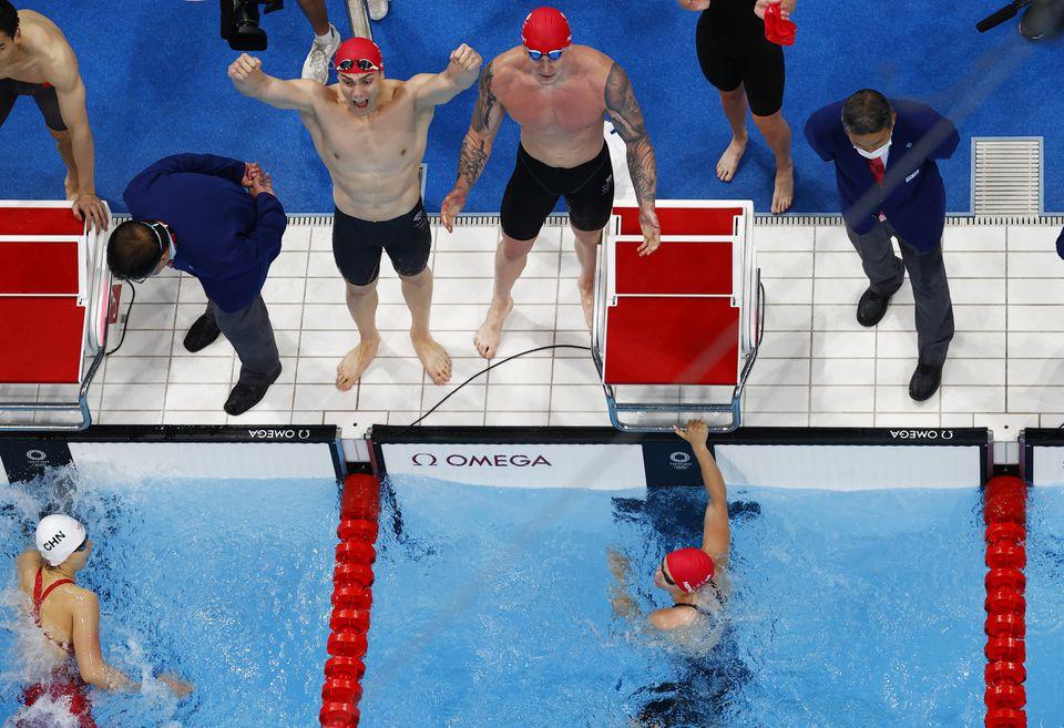 टोकियो ओलम्पिक: मेड्ले रिलेमा विश्व कीर्तिमान बनाउँदै ग्रेट ब्रिटेनले जित्यो स्वर्ण