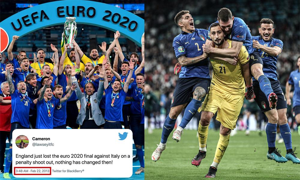२०१३ मै भएको थियो युरो २०२० को फाइनलमा इटालीसँग इङ्ल्यान्ड हार्ने भविष्यवाणी