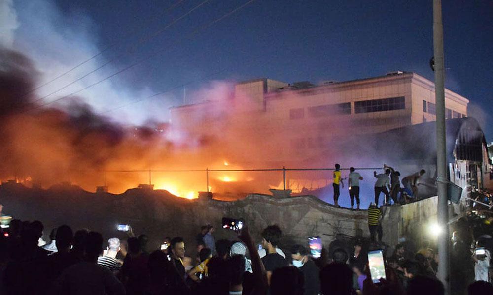 कोरोना अस्पतालमा आगलागी हुँदा इराकमा ५० जनाको मृत्यु