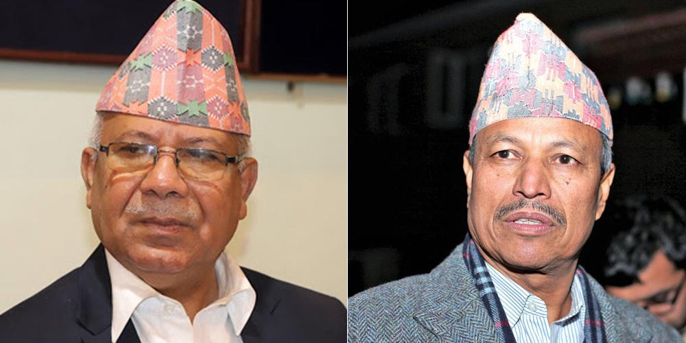भीम रावललाई भेट्न टोखा पुगे माधव नेपाल