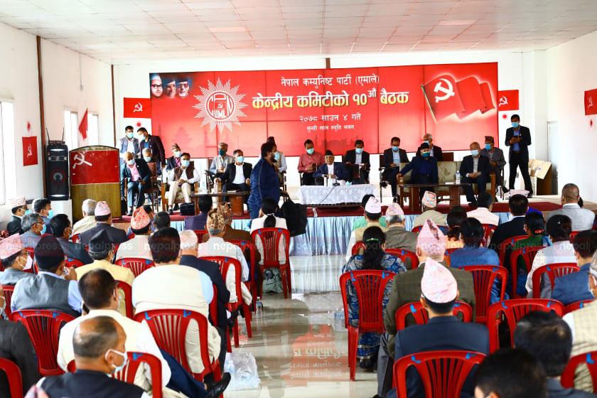 तस्बिर र भिडियोमा एमालेको दशौं केन्द्रीय कमिटी बैठक