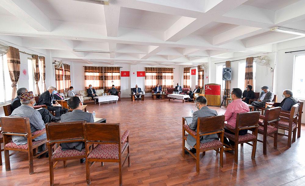 एमाले बैठक: देउवालाई मत दिनेहरू पार्टीमा नरहने, माधव नेपाल नफर्किने निष्कर्ष (भिडियो)