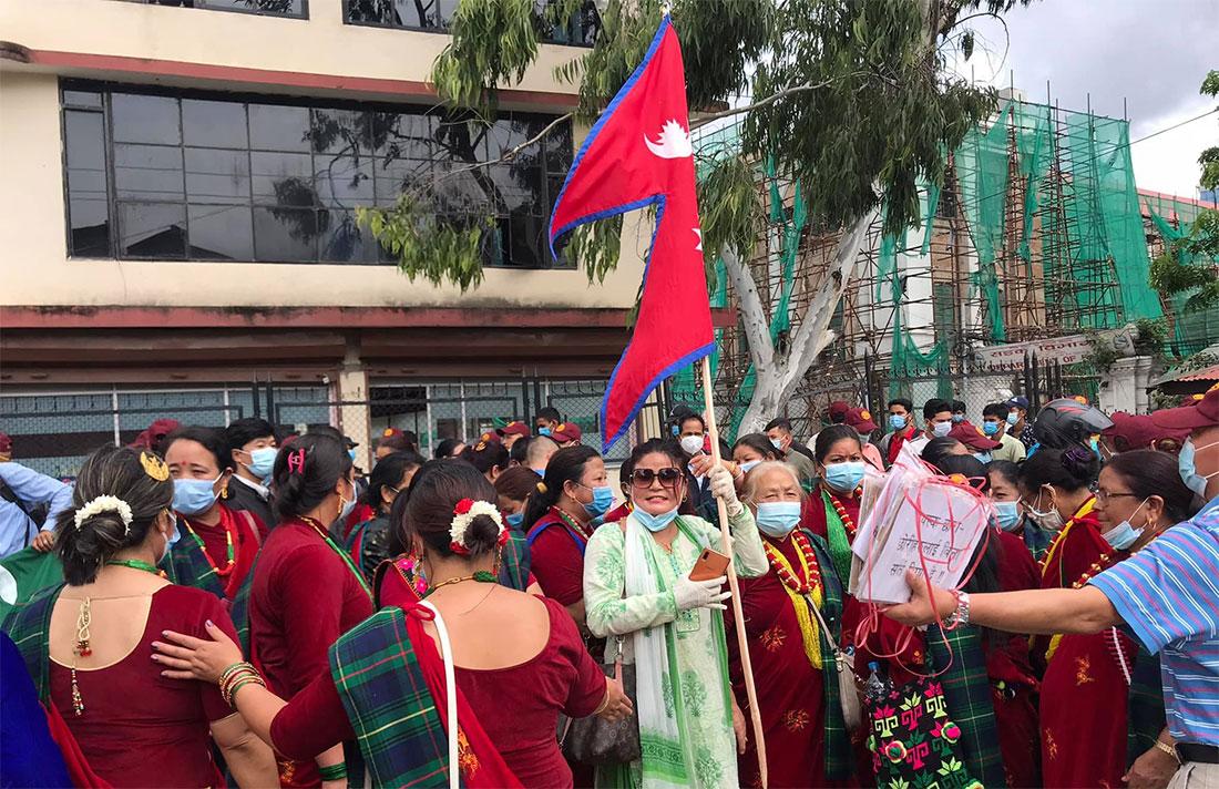 काठमाडौंमा भूतपूर्व गोर्खाद्वारा प्रदर्शन (तस्वीर र भिडियो)