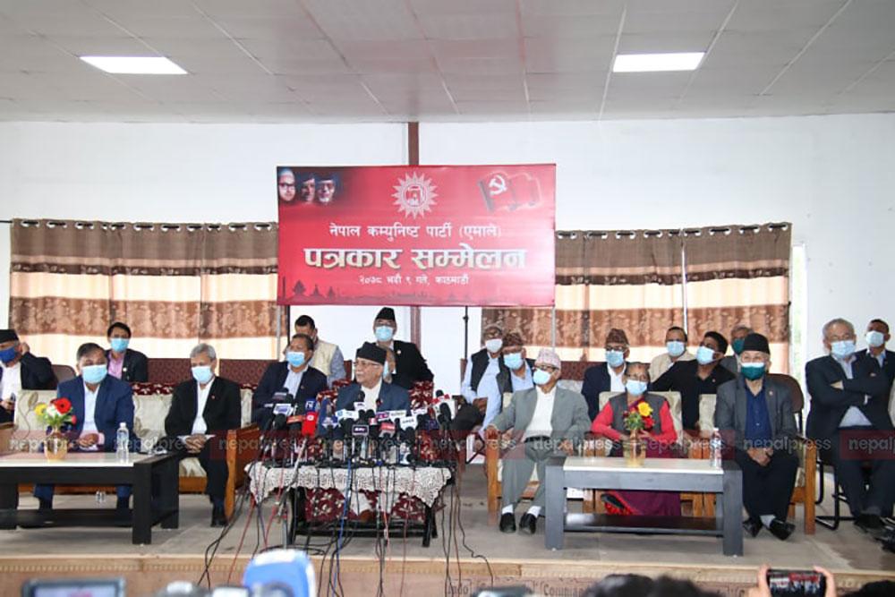 माधव नेपाल पक्षलाई ओलीको आरोपः घरघरबाट मान्छे तानेर रिसोर्टमा थुनियो