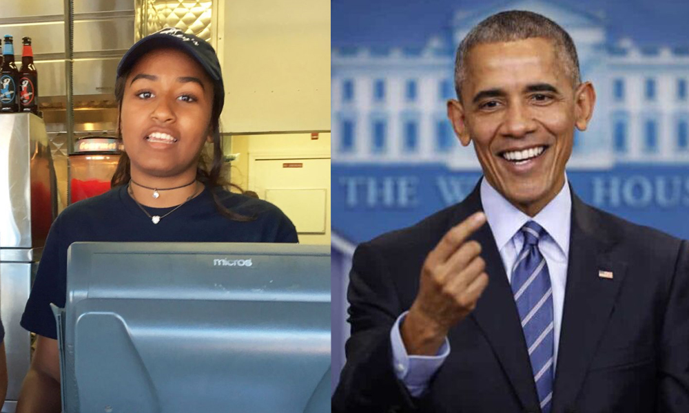 रेष्टुरेन्टमा काम गर्छिन् अमेरिकी राष्ट्रपति ओबामाकी कान्छी छोरी