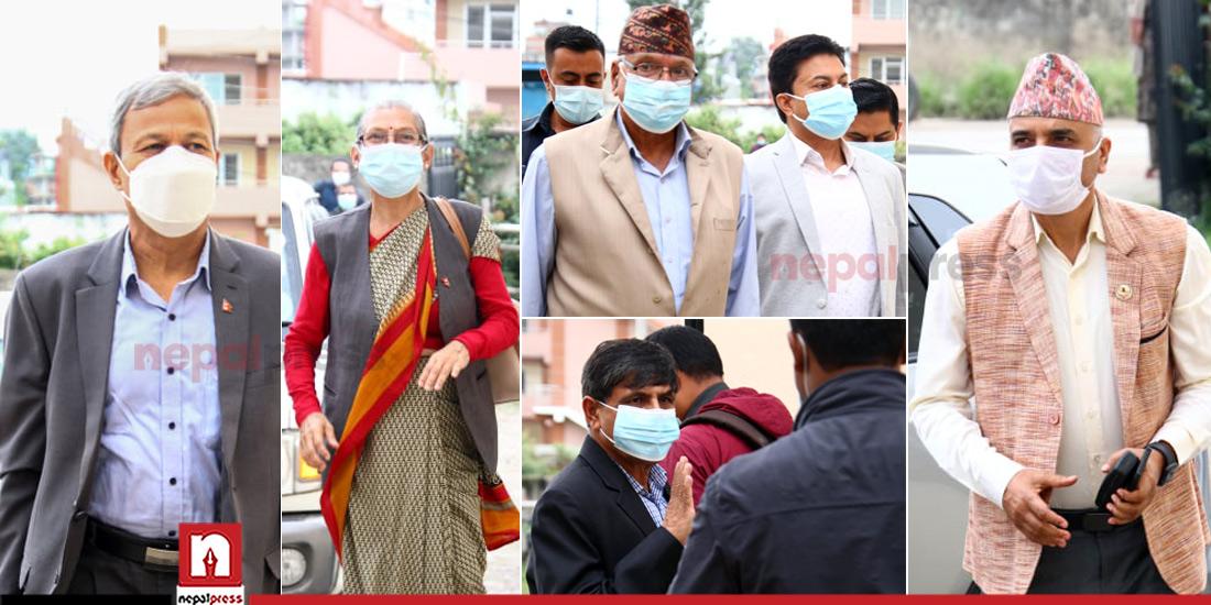 तस्बिरमा हेर्नुस् माधव नेपाल छाडेर ८ महिनापछि मूलधारमा मोडिएका पाइलाहरू