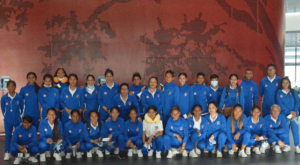 महिला एसियन कप छनोटका लागि महिला टोली उज्बेकिस्तान पुग्यो