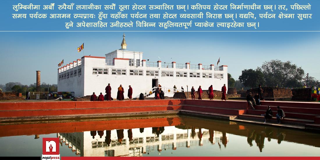 लुम्बिनीमा पर्यटकका लागि विशेष प्याकेज, पिकअपदेखि लजिङ-फुडिङमा भारी छुट