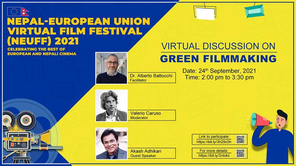 नेपाल युरोपेली फिल्म फेस्टिभल अन्तर्गत शुक्रबार ग्रीन फिल्म मेकिङबारे मास्टरक्लास हुँदै