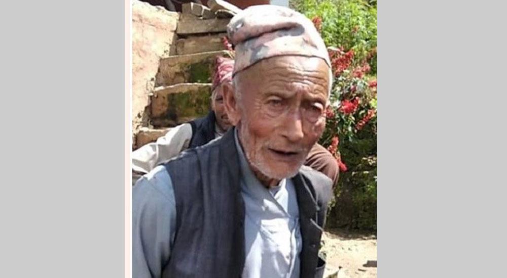संखुवासभा हत्याकाण्डः परिवारका ६ जना मारिएको थाहै पाएनन् ९० वर्षीय वृद्धले