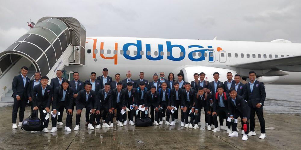 एएफसी यु-२३ एसियन कप छनोट खेल्न नेपाली टोली ताजकिस्तान उड्यो