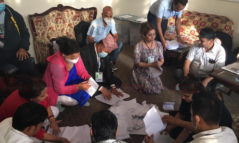कांग्रेस अधिवेशन : काठमाडौं महानगरको मतगणना सुरू