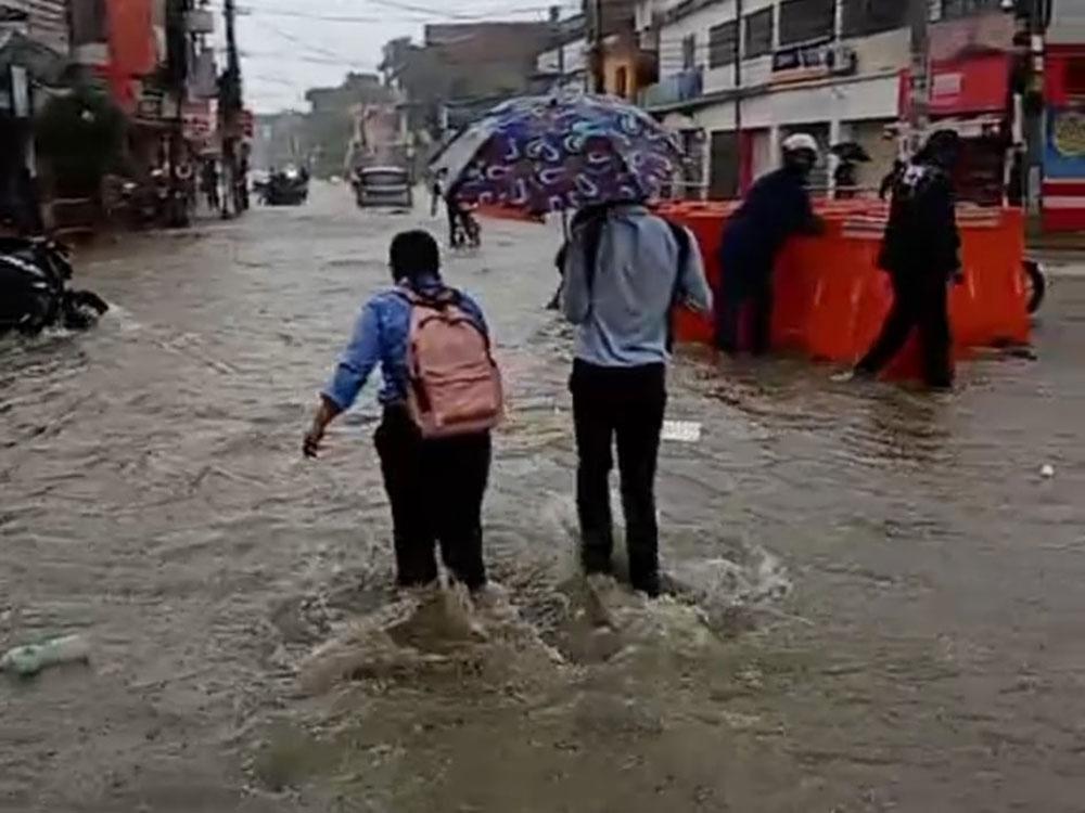 जनकपुर जलमग्न, आज यस वर्षकै सबैभन्दा बढी वर्षा