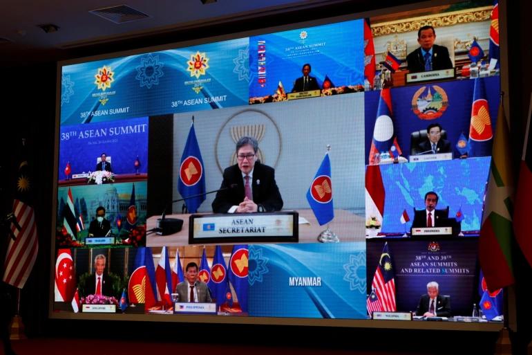म्यानमारबिनै आसियान शिखर सम्मेलन सुरु : बर्मेली सेना प्रमुखलाई सम्मेलनमा प्रतिबन्ध