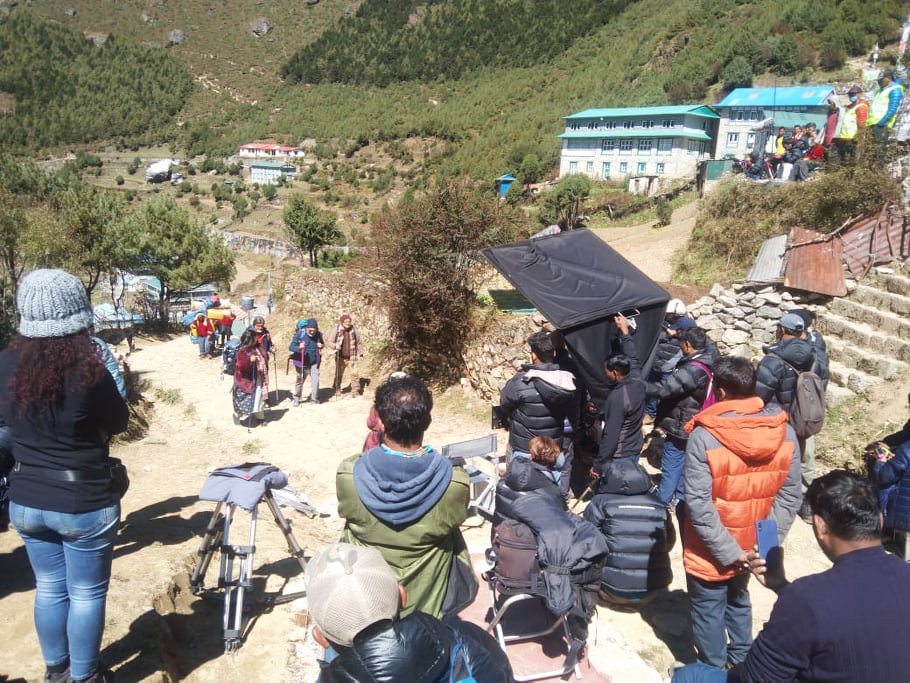 'उचाइ' फिल्म युनिट चामे पुग्यो, लुक्ला र नाम्चे सुटिङ इन्ड-क्ल्याप