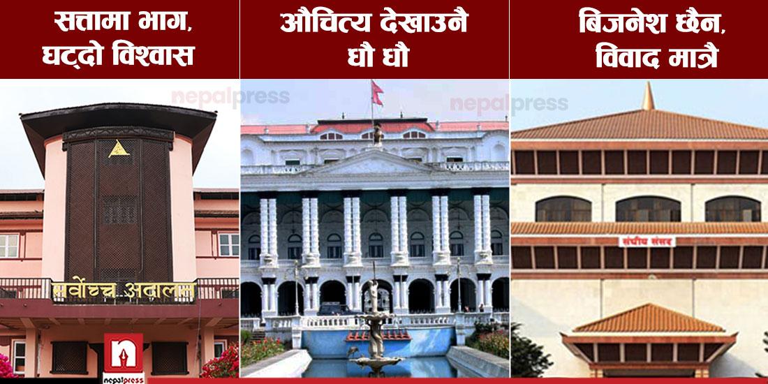सय दिनको समीक्षा : सरकार, संसद र अदालत सबैतिर बेथितिका बाछिटा